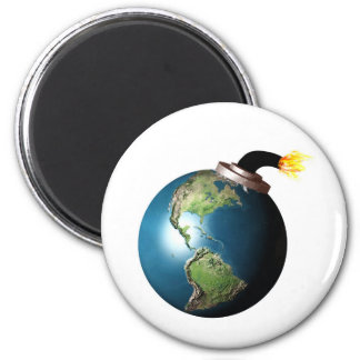 Earth bomb 2 inch round magnet