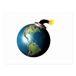 Earth bomb postcard