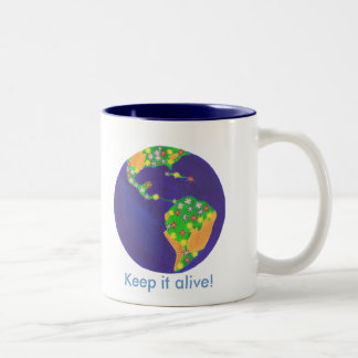 Earth bouquet - Keep it alive, earth day mugs