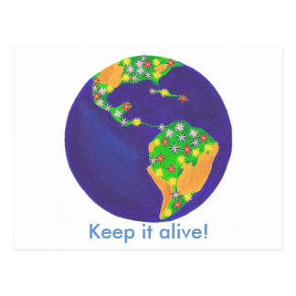 Earth bouquet - Keep it alive Earth Day postcards