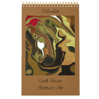 Earth Brown Abstract Art Calendar