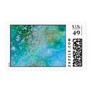 Earth Bubble Postage Stamp