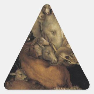 Earth by Giuseppe Arcimboldo Triangle Sticker
