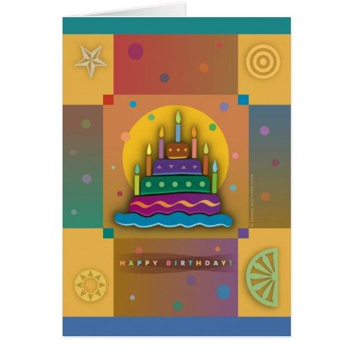 Earth cake map card