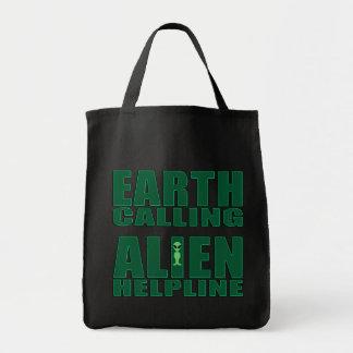 Earth Calling Alien Helpline Bag