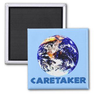 Earth Caretaker 2 Inch Square Magnet