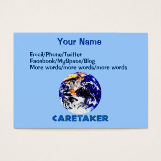 Earth Caretaker Business Card