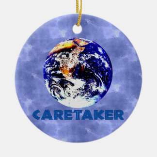 Earth Caretaker Ceramic Ornament