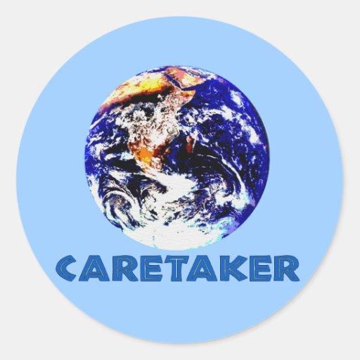 Earth Caretaker Classic Round Sticker