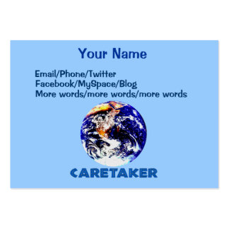 Earth Caretaker Large Business Card