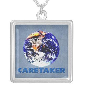 Earth Caretaker Square Pendant Necklace
