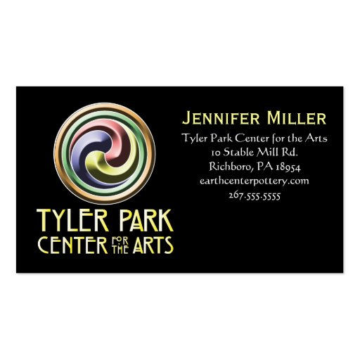 Earth center pottery business card zazzle for Pottery business cards