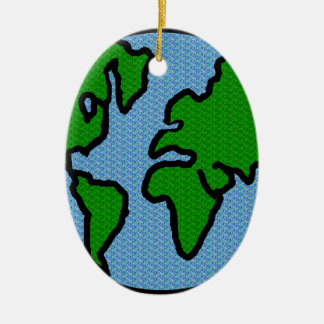 Earth Ceramic Ornament