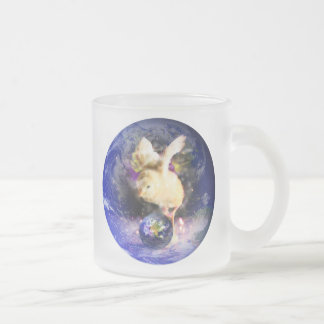 Earth Chick W/Earth Background Frosted Glass Coffee Mug