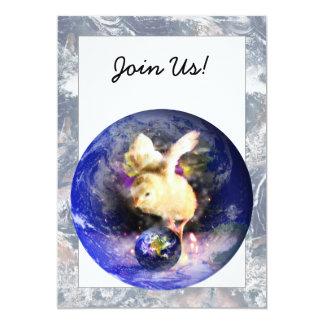 Earth Chick W/Earth Background Invite