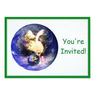 Earth Chick (w/Green Border) Invitations