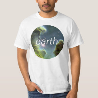 earth Circle Texture Design with Editable Text T Shirts