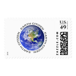 Earth citizen postage stamp