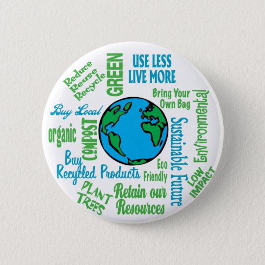 Earth Collage Button