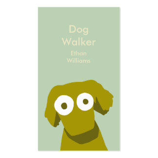 Earth color Dog Business Card