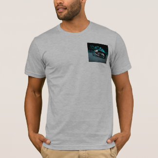 earth color t-shirt with futuristic car pocket