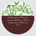 Earth Colors Classic Round Sticker