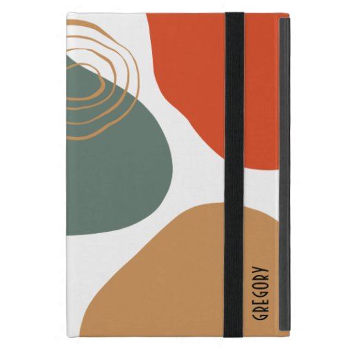 Earth colors organic shapes composition case for iPad mini
