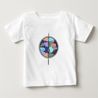 Earth Compass Abstract T Shirts