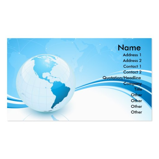 EARTH CONCEPT BUSINESS CARD