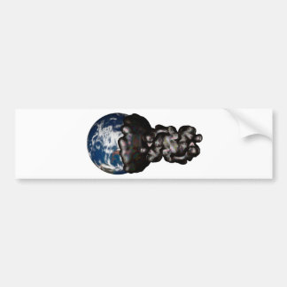 Earth cover by sticky petroleum car bumper sticker
