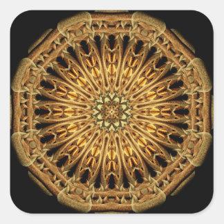 Earth Crystal Mandala Square Sticker