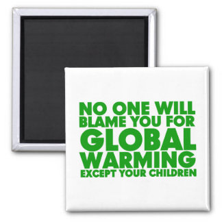 Earth Day 2009, April 22, Stop Global Warming 2 Inch Square Magnet