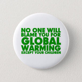 Earth Day 2009, April 22, Stop Global Warming Pinback Button