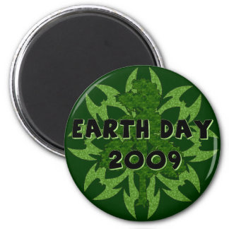 Earth Day 2009 Art 2 Inch Round Magnet