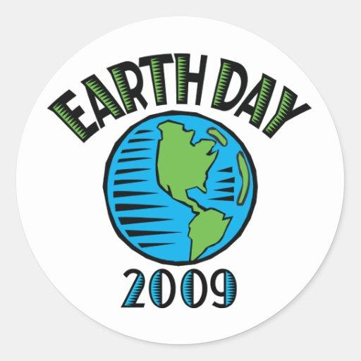 Earth Day 2009 Classic Round Sticker