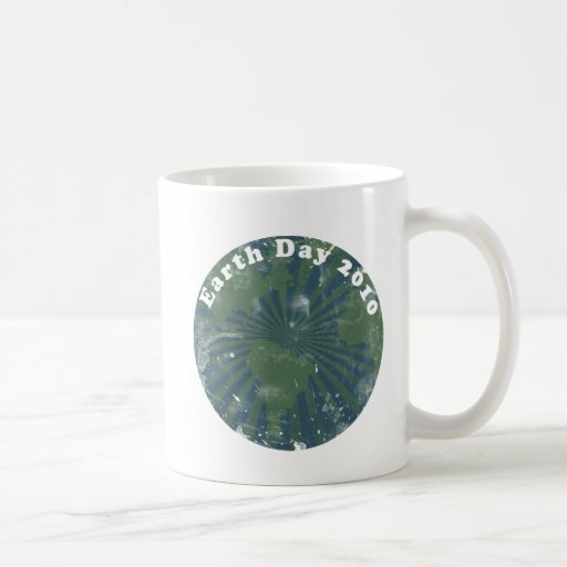 Earth Day 2010 Vintage Coffee Mugs