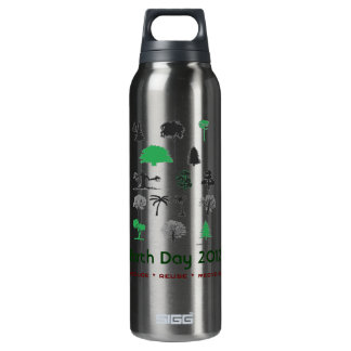Earth Day 2012 Aluminum 16 Oz Insulated SIGG Thermos Water Bottle