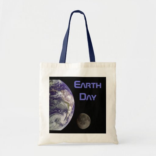 Earth Day 2012 - Earth in full view Budget Tote Bag