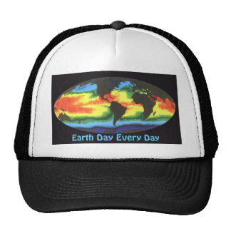 Earth Day 2012 - Global sea surface temperature Trucker Hat