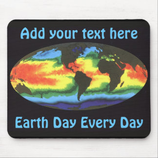 Earth Day 2012 - Global sea surface temperature Mouse Pad