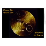 Earth Day 2012 - Sounds of Earth gold record Greeting Card
