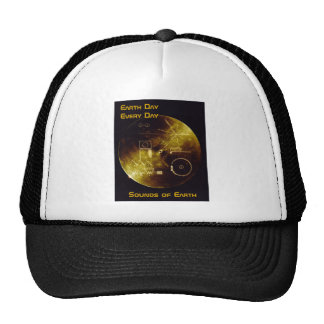 Earth Day 2012 - Sounds of Earth gold record Trucker Hat
