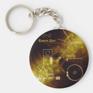 Earth Day 2012 - Sounds of Earth gold record Key Chains