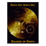 Earth Day 2012 - Sounds of Earth gold record Postcard