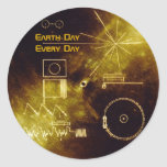 Earth Day 2012 - Sounds of Earth gold record Round Sticker