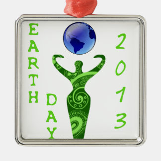 Earth Day 2013 Metal Ornament