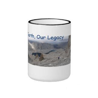 Earth Day 2014 mug, Our Earth, Our Legacy Ringer Mug