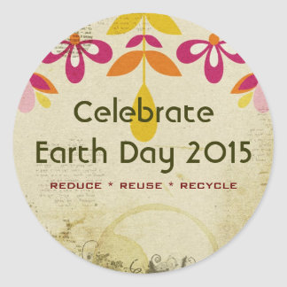 Earth Day 2015 Floral Abstract Stickers