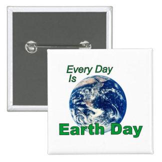 Earth Day 2 Inch Square Button