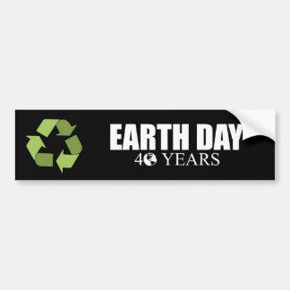 EARTH DAY 40 years Bumper Sticker